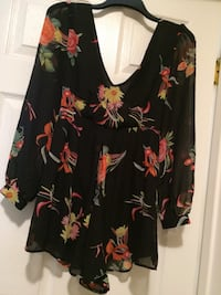 black and multicolored floral blouse Riverside