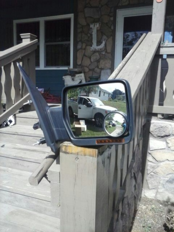 Right side factory mirror for a Ford F-150
