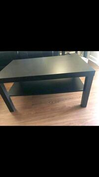 rectangular black wooden coffee table Waldorf