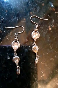 STRL SILV TOPAZ EARRINGS  Glen Burnie, 21061