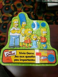 The Simpson's Trivia Game 2000 Complete With Tin Box