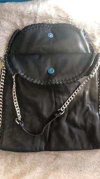 Black pleather bag with chain Ashland, 23005