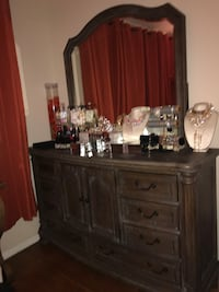 brown wooden dresser with mirror Los Angeles, 90036