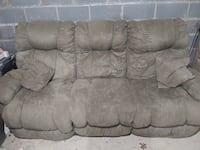 Brown suede 3-seat sofa Morristown, 37814