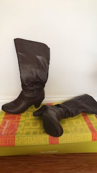 pair of black leather boots New York, 10027