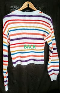 Size Small. Assorted Colors Striped Lightweight Sweater