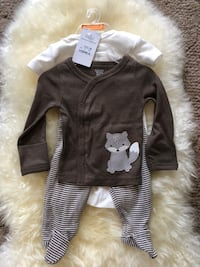 New With Tags! Baby Boy 3 Month Carter's Fox Outfit 412 mi