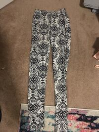 white and black floral pants Red Deer, T4R 3N1