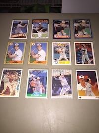 Cal Ripken - Lot of (12) Baltimore Orioles Baseball Cards (1985-1989)