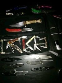 assorted-color-and-size knife collection