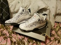 pair of white-and-gray Air Jordan basketball shoes on box Gloucester Courthouse, 23061