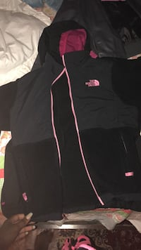 Black and pink the north face zip-up jacket Alexandria, 22312