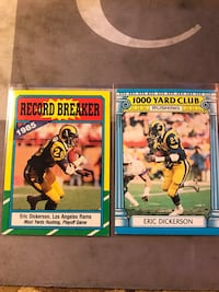 Eric Dickerson assorted football cards  Fresno, 93727