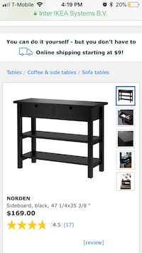Ikea Nordan Kitchen Island/Console Table