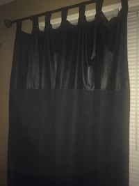 "Faux Black leather tab top curtains 84""L Upper Deerfield, 08302"
