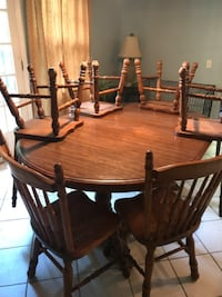 Solid wood table w/leaf and 6 chairs Irmo