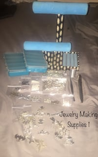 Jewelry Making Mixed Lot, Beads, Charms, Designer Clasps Fashion Jewelry Display & More! Allentown
