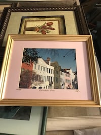 white wooden framed painting of house Wilmington, 28405