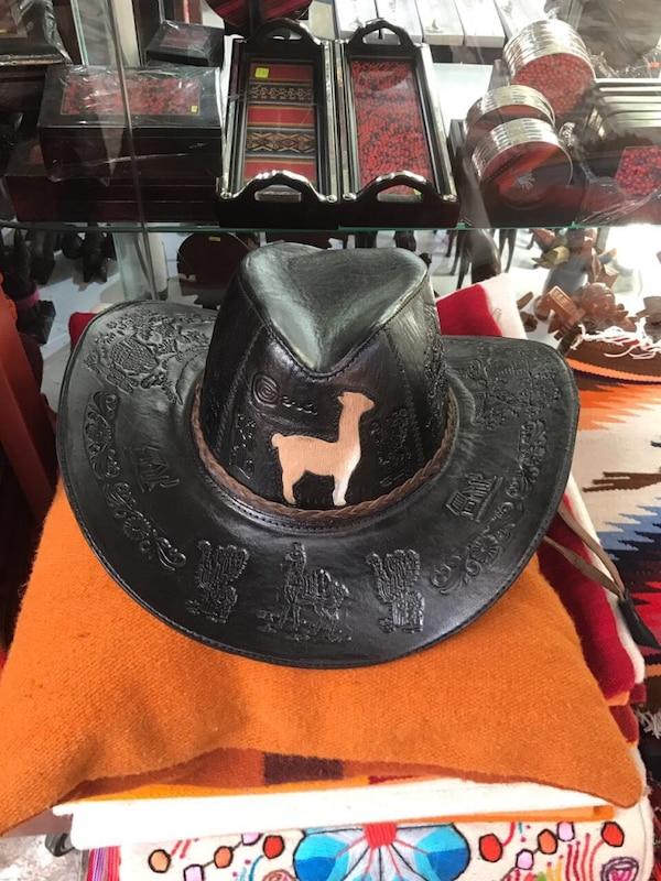 1f2e37826a69a Used black leather cowboy hat for sale in Burbank - letgo