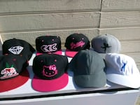 six assorted color fitted caps Visalia, 93291