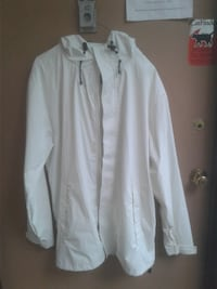 Lands End rain jacket White size large size 42 to 46