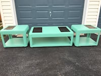 Aquastone marching wood coffeetable and end tables Adamstown, 21710