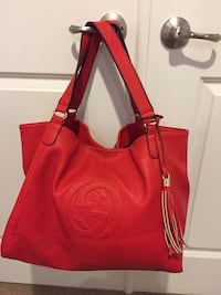 Gucci Soho Convertible Shoulder Bag Purse Large Red Accokeek, 20607