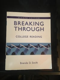 Breaking Through College Reading Textbook  Adelphi, 20783
