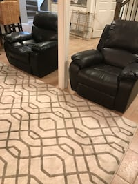 Two leather recliner chairs. Vaughan, L6A 2G5