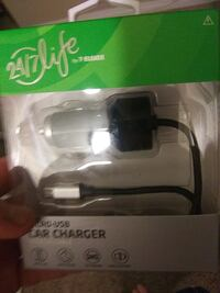 USB charger with car port