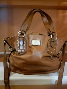 Tan Michael Kors Satchel Crossbody Handbag