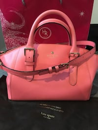 Pink Kate Spade leather 2-way handbag