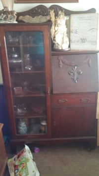 brown wooden cabinet with drawer Hurlock, 21643