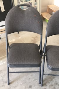 Two foldable metal chair Mississauga, L4W 2T9