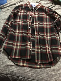 black and white plaid dress shirt 224 mi