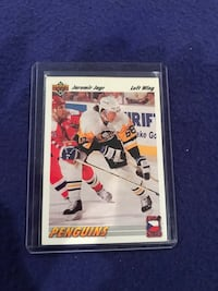 1993-94 Upper Deck Jaromir Jagr Hockey Card Calgary, T2M 2P2
