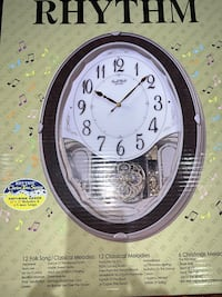 New Rhythm motion clock, 3 available