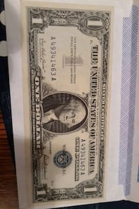 One dollar silver certificate  A series are worth upwards of 1200