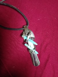 Fork necklace with beads  null