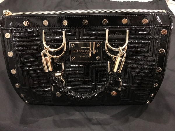 b20b770ace15 Used black leather gianni versace hand bag for sale in New York - letgo