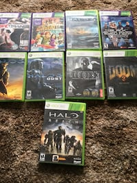Eight assorted xbox 360 game cases Sarnia, N7T 2W2