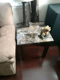 Sofa, love seat, end tables lamps, and coffee table