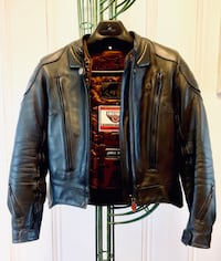 Motorcycle Leather Jacket women's size SM/Med