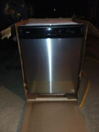 Whirlpool stainless steel and black dishwasher Central, 70739