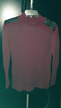 brown closed-neck sweater