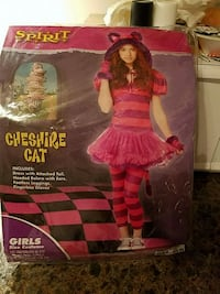 Girls Cheshire cat costume size m 8-10 new Toms River, 08753