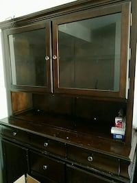 brown wooden China cabinet with matching table and Pikesville, 21208