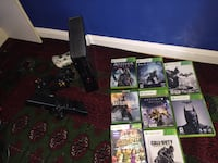 Black Xbox 360 Kinect edition with a bunch of games and three remotes Manassas, 20110
