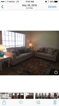 Large Light Beige Nail Head Sofa New Orleans