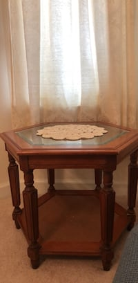 Octagon table wood glass insert Myrtle Beach, 29579